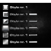 Metal styles 1 (24 photoshop styles pack)