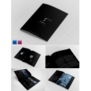 Black Brochure Template