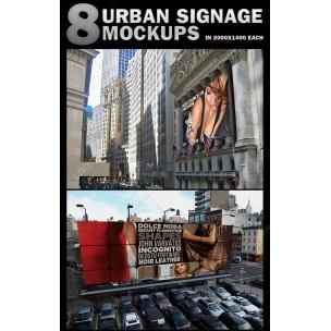 8 Urban Scenes Mockups