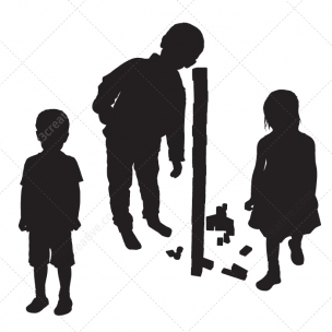 Kids silhouettes vector pack