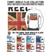 Funny World Flag design templates for T-shirts