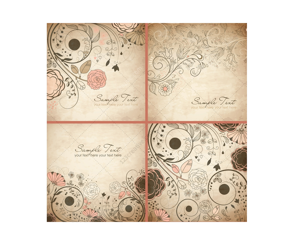 Vintage floral vector backgrounds and invitation cards floral vintage floral vector backgrounds and invitation cards stopboris Choice Image