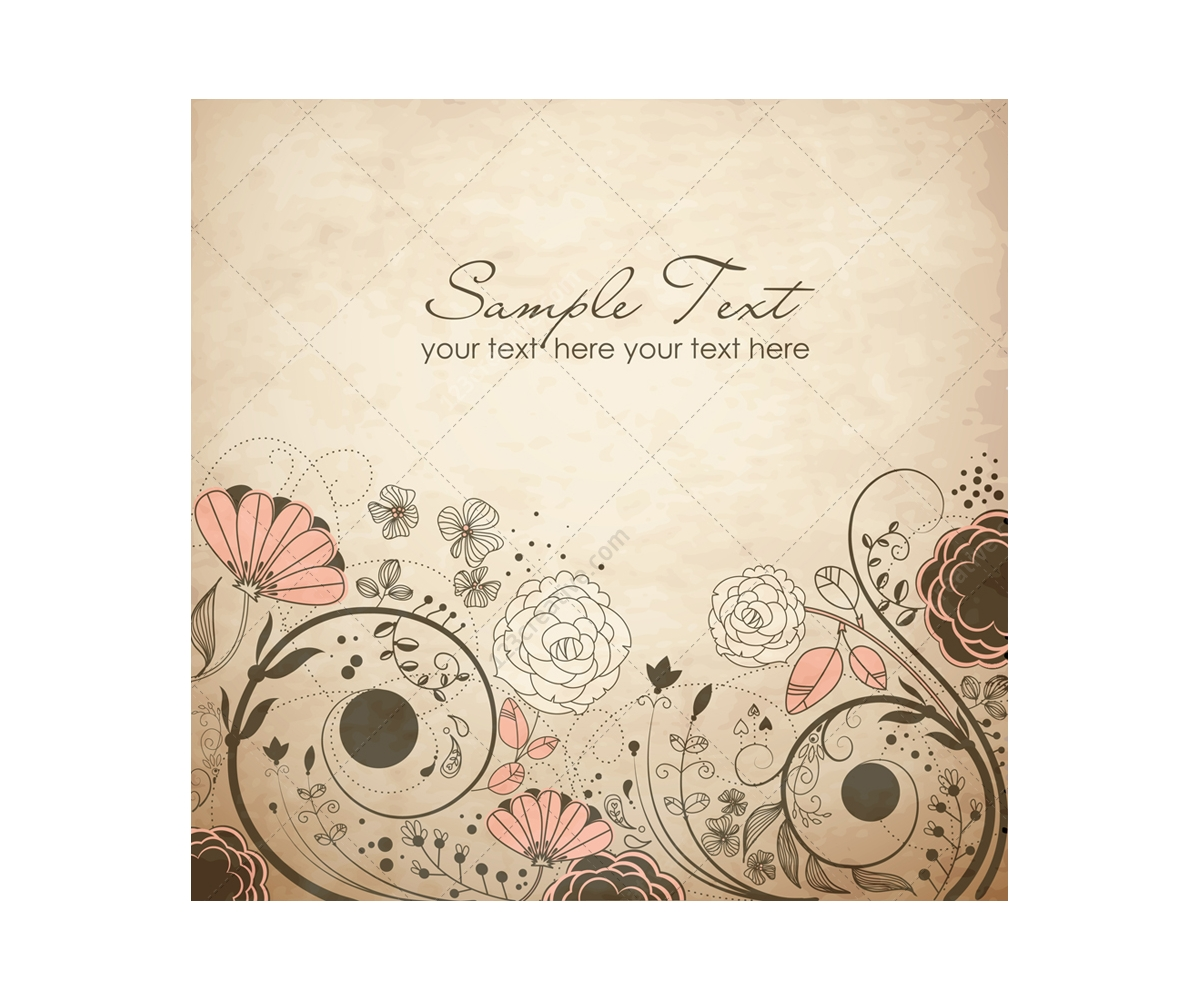 Vintage Floral Vector Backgrounds And Invitation Cards Floral