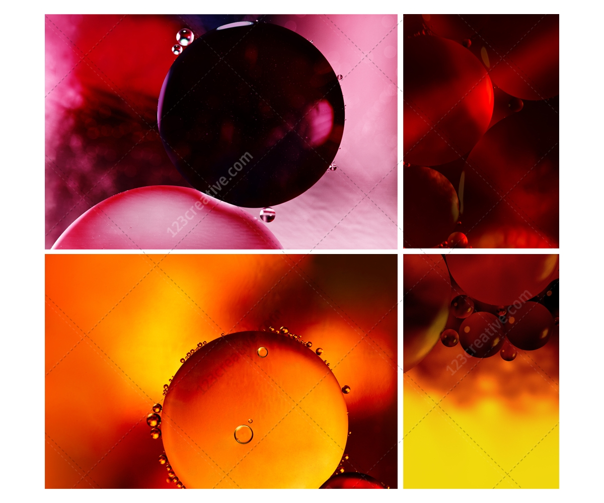Oil bubbles backgrounds bubble textures pack abstract background