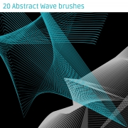 Abstract Wave brushes for Photoshop