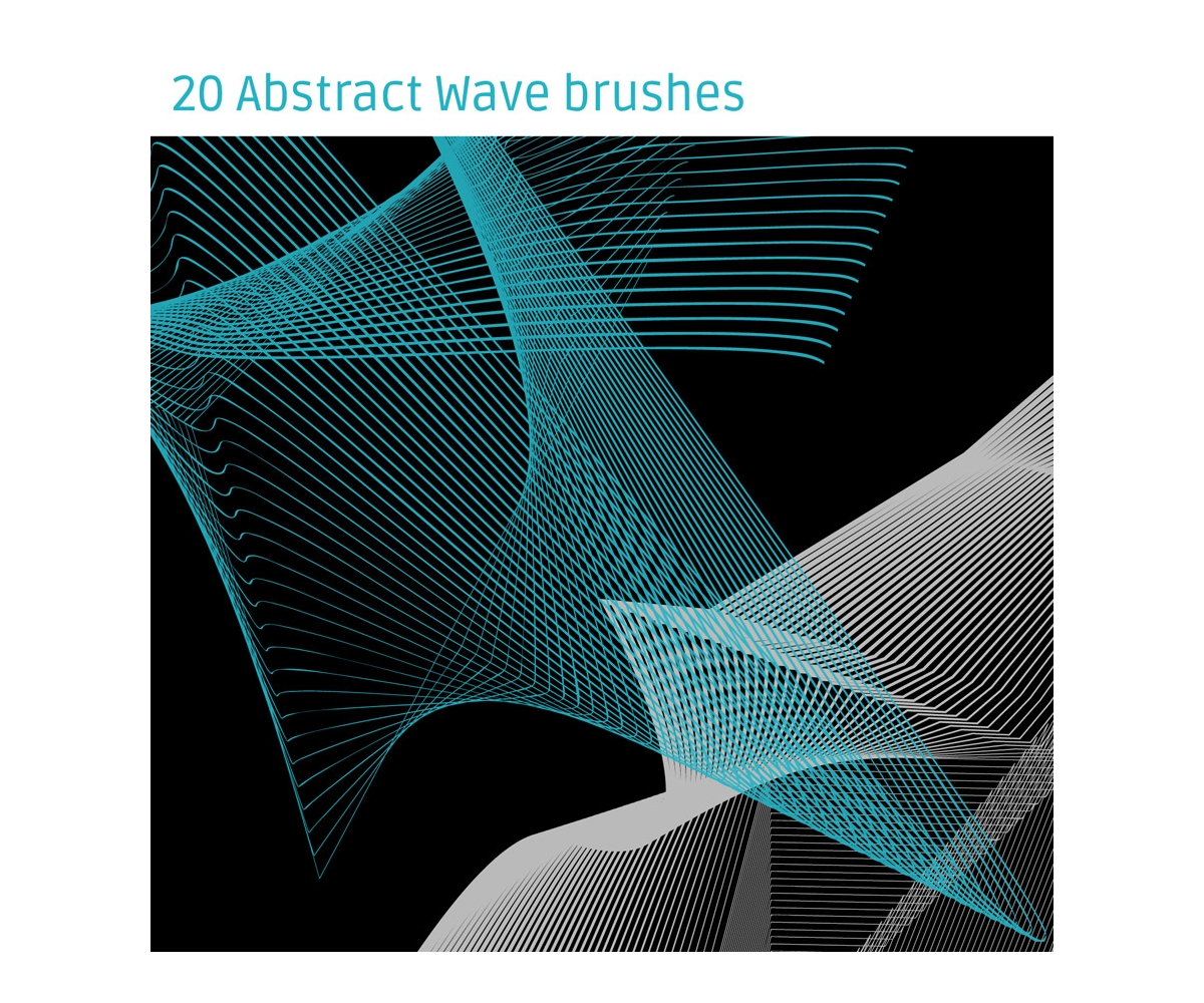 Abstract Wave brushes for Photoshop - various high