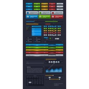 UI Kit Iridis Webdesign user interface