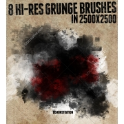Hi-res Grunge Brushes abr png, artistic brush photoshop