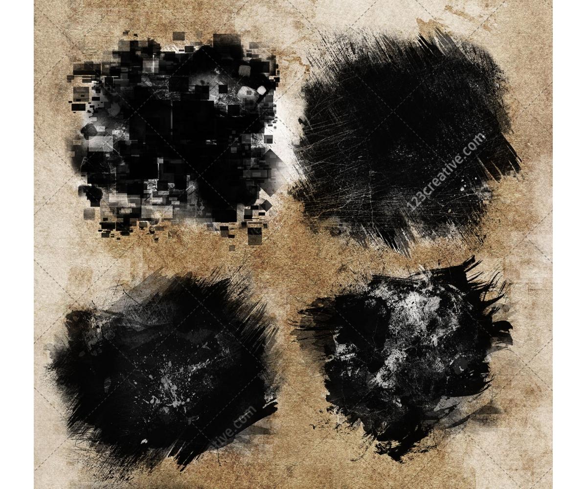 Hi-res Grunge Brushes For Photoshop