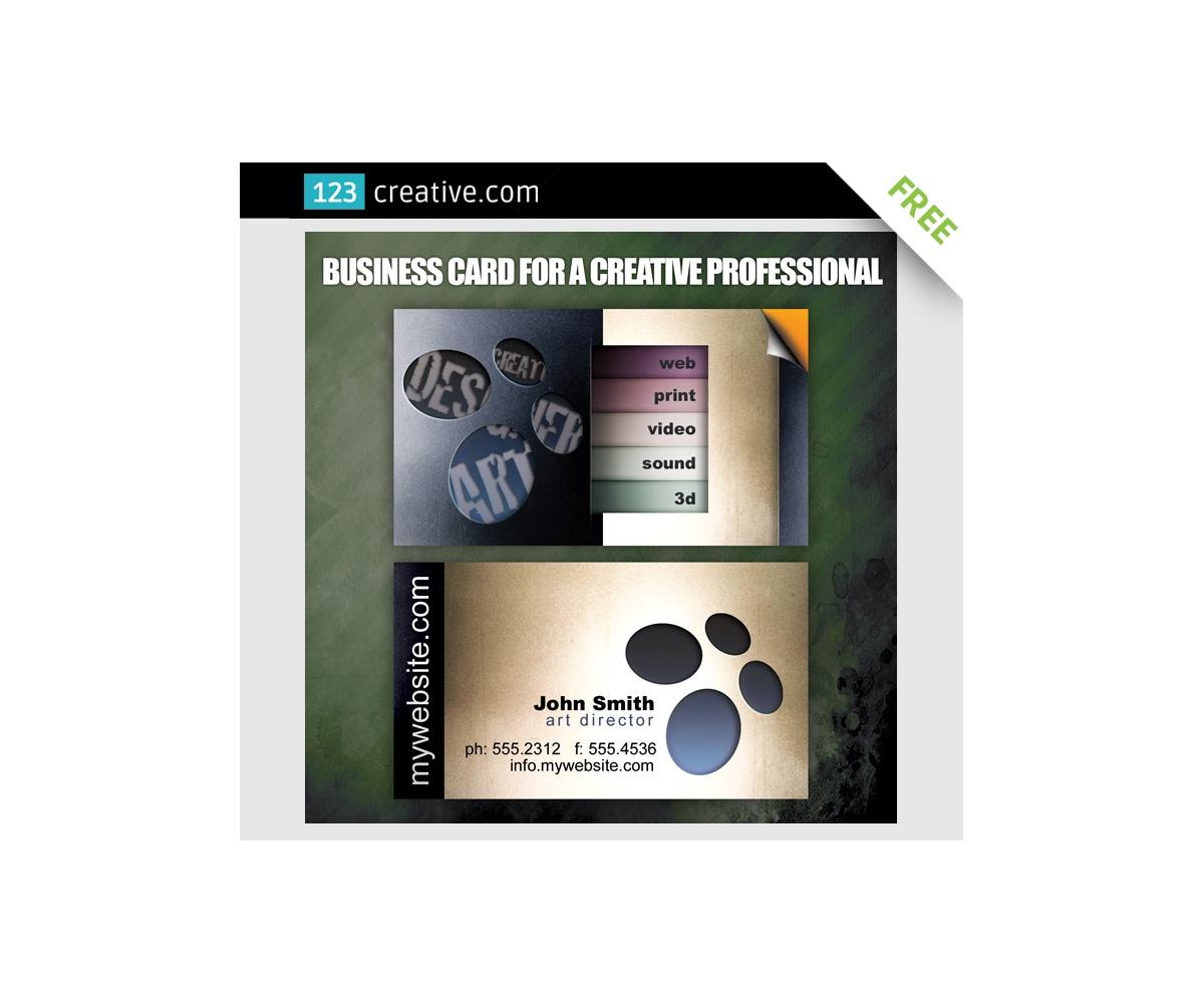 Business Card For Creative Professional Business Card Design Template For Designer Film Maker Art Director