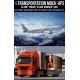 Transportation Mock-up Templates, truck mockup, plane mockup