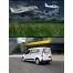 flying airplane with banner mockup, advertising place mockup, plane banner mockup, van mockup