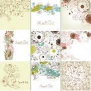 floral ornamental vector cards, floral ornamental vector patterns