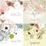 prearranged vector templates, wedding invitations, spring greetings