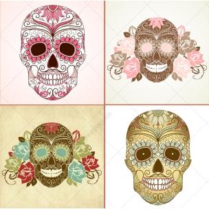23 Sugar skull vectors and skull patterns