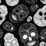 sugar skull vector pattern, seamless skull pattern vector