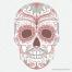 sugar skull vector, floral skull vector