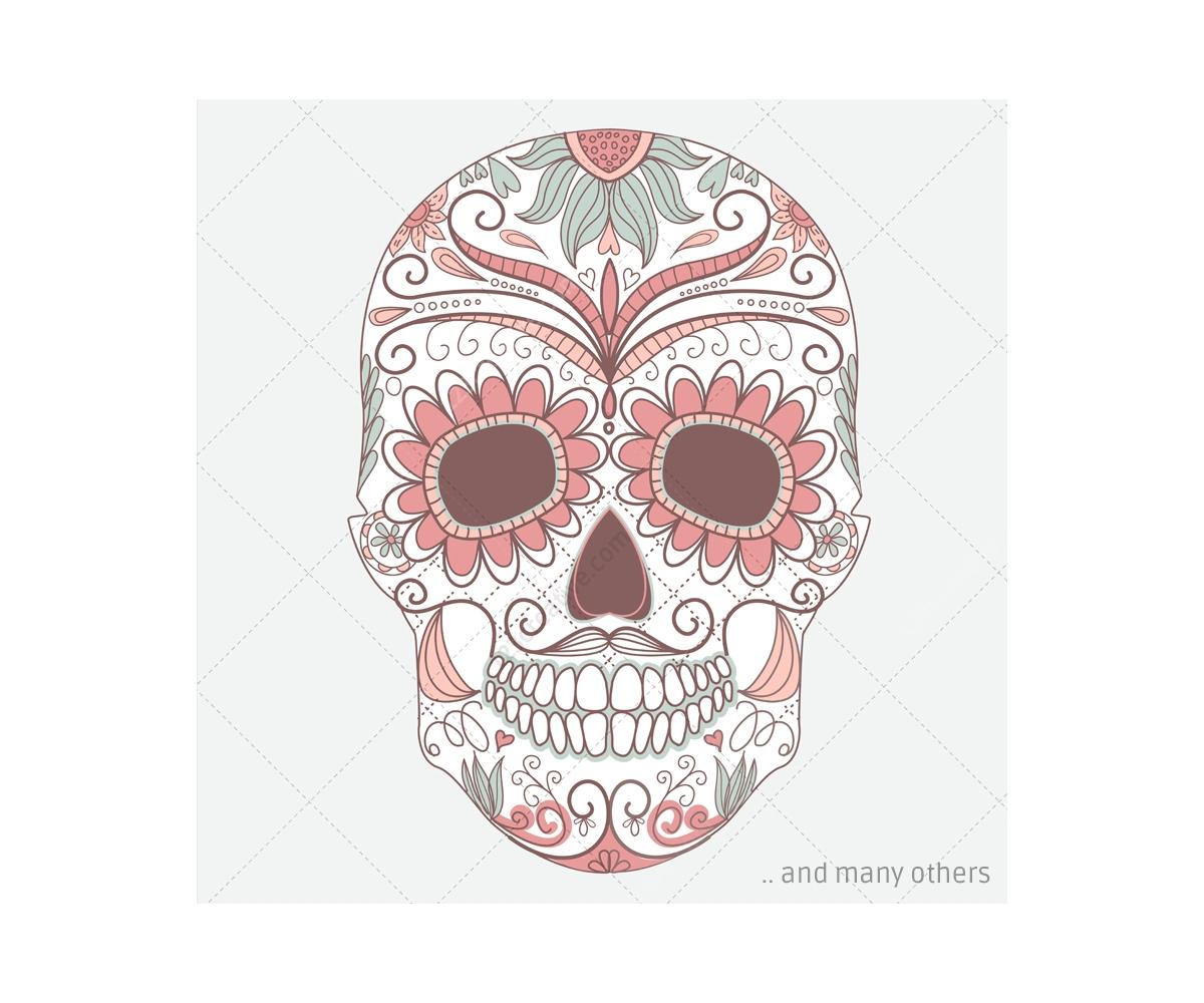 Sugar Skull Pattern | www.imgkid.com - The Image Kid Has It!