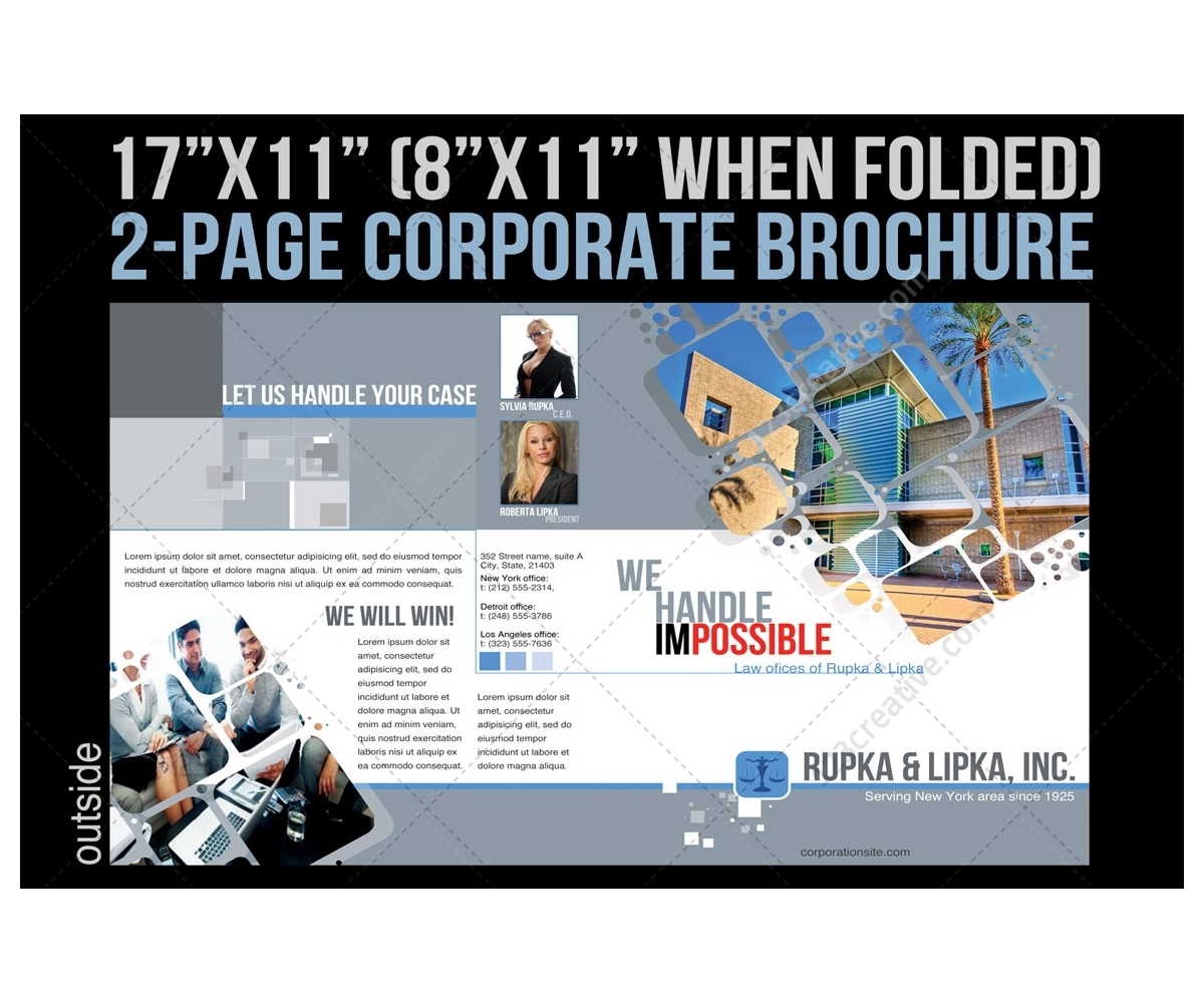 company flyer template 2 pages corporate brochure template for