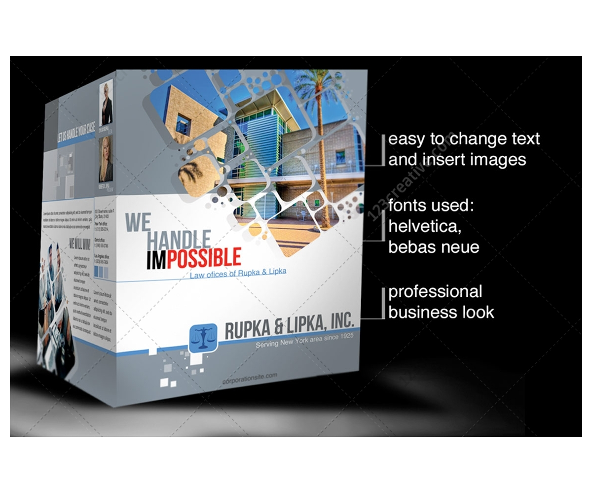 2 pages corporate brochure template for construction for Engineering brochure templates