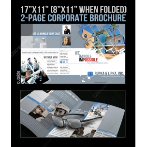 2 Pages Corporate Brochure template