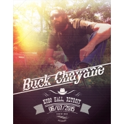 Country music flyer template vintage halftone, music album promotion flyer