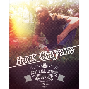 Country music poster template - vintage style