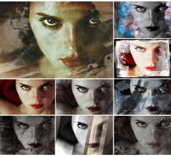 Grunge and scratched look for photos - Distressed Image Treatments