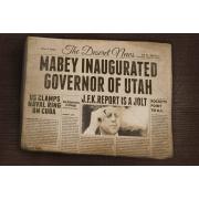 Vintage Newspaper Mockup template, old paper newspapers, yellowed newspaper mockup, realistic newspaper mockup psd
