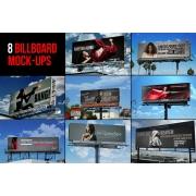 Sky Billboard mockups, street billboard mockup templates