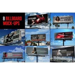 8 Sky Billboard Mockups