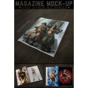 Magazine Mockup Template, catalog mockup template