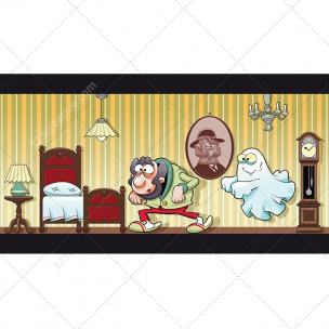 Haunted house illustration vector
