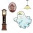ghost vector, clocks vector, lamp vector