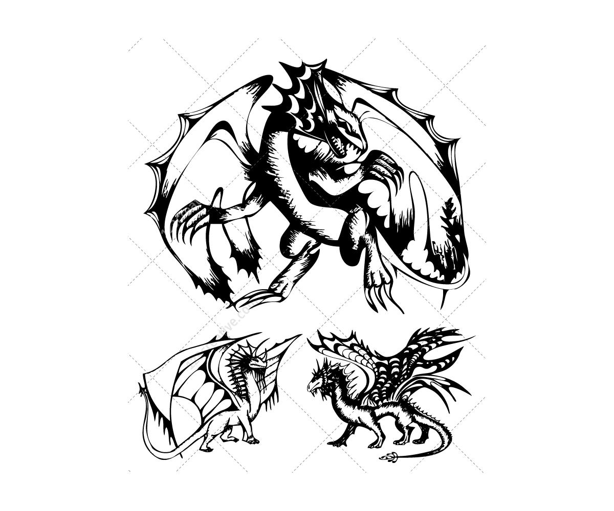 Original Realistic Dragons For