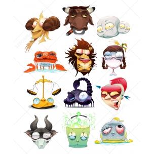 Crazy Zodiac vectors