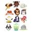 Crazy Zodiac vectors, zodiac signs, astrology horoscope symbols vectors