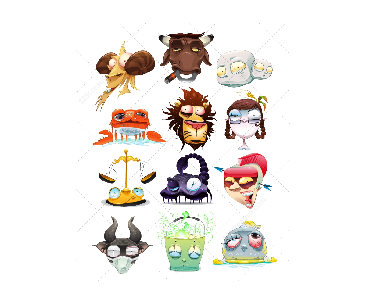 Crazy zodiac vectors zodiac star signs astrology horoscope crazy zodiac vectors zodiac signs astrology horoscope symbols vectors buycottarizona