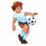 boy plays football vector, football training vector, soccer ball vector