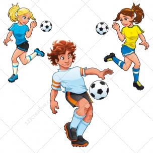 Football players vector illustrations