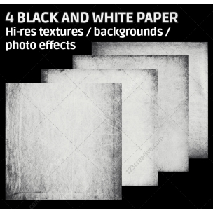 4 Black and white paper textures (digitized)
