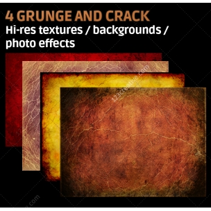 4 Grunge and crack textures high resolution (digitized)