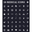 Medical icons, Healthcare icons pack, Health and Medicine icon set, Hospital icons