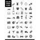Online store icons, shopping store categories icons, online shop icon set