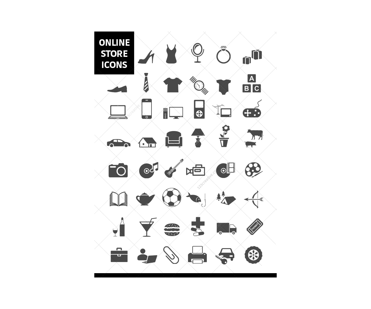 Online Store Icons Online Shop Icon Set Shopping Store