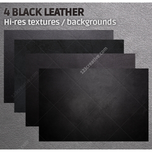 4 Black leather textures high resolution (digitized)