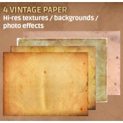 4 Vintage paper textures high resolution (digitized)