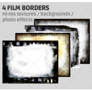 4 Film border textures high resolution (digitized)