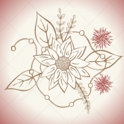 3 Vintage Bouquet illustration vector art