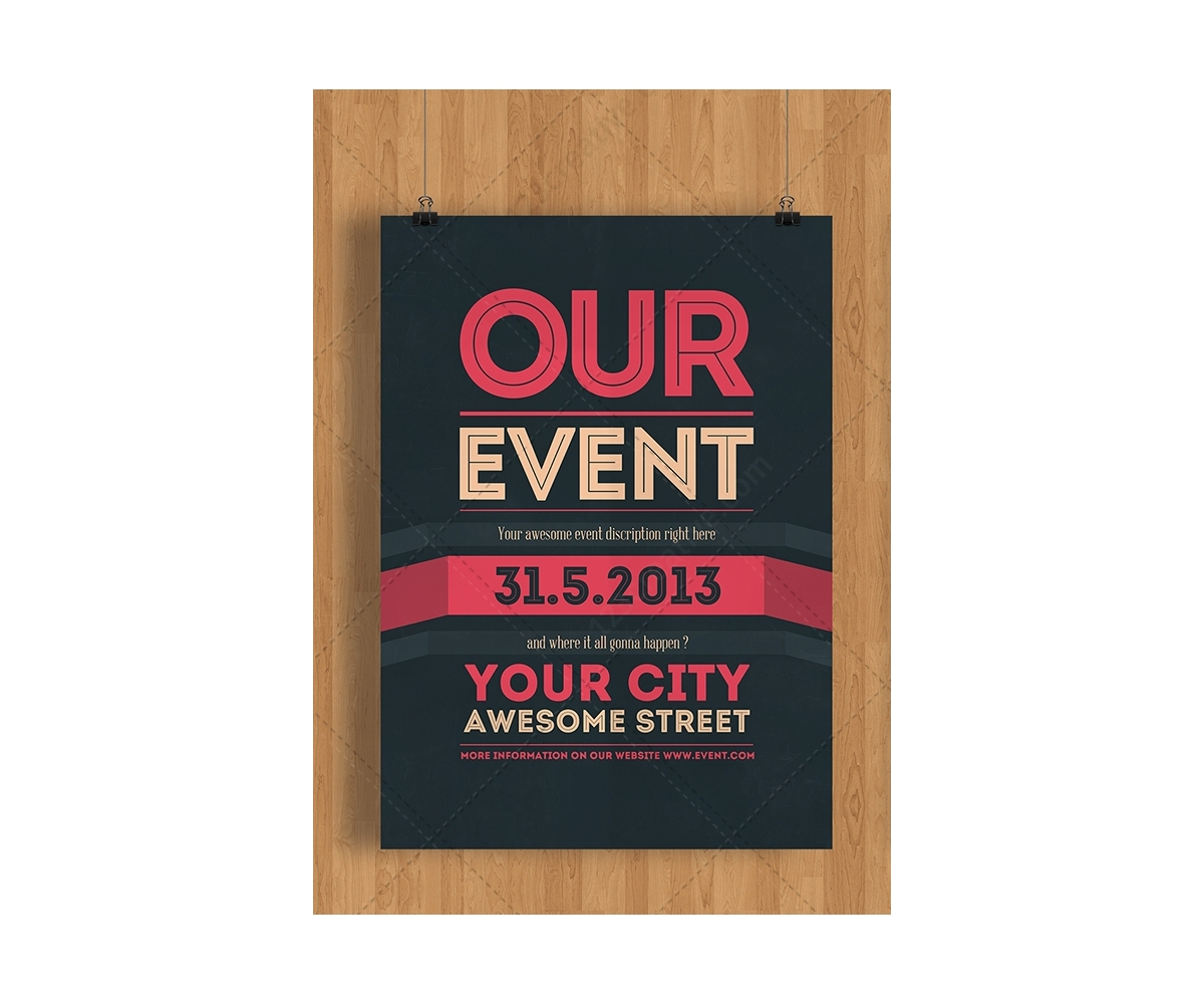 event flyer template psd clean minimal and modern theme flyer